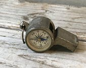 Vintage French Compass Whistle