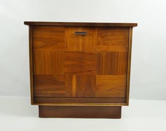 Lane Mid Century record cabinet / Mid Century vinyl album storage /  Lane sterero cabinet / Mid Century Modern media cabinet