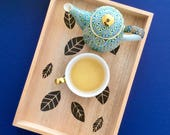 Small wood tray, tea tray, organiser, breakfast tray, cosmetic tray, housewarming gift