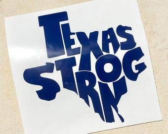 Texas Decal, Texas Strong Decal, State Decal, Texas Strong Sticker, Car Decal, Yeti Decal, Yeti sticker, Texas Sticker, Vinyl Decal