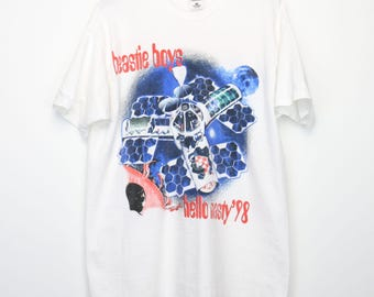 Beastie Boys Shirt Vintage tshirt 1998 Hello Nasty American Tour Concert Tee 1980s Mike D Adam Yauch Ad-Rock Hip Hop Music Hardcore Punk