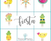 Mexican Fiesta Planner Paper Clips or Magnets -  Kawaii Novelty Paper Clips | Novelty Magnets. Watermelon clips. Pineapple magnets and clips