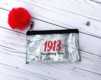 DST 1913 Devastating Diva Small Pouch - Sorority Theme