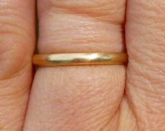 Brushed 14KT comfort fit wedding band 2.24mm and size 6