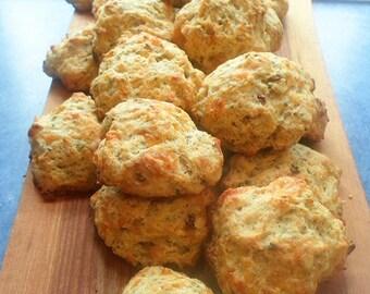 Rosemary Focaccia Artisan Flat bread Mix - with Local Small Farm Organic Wheat, Spelt & Corn - Food Market - DIY Bread Mix