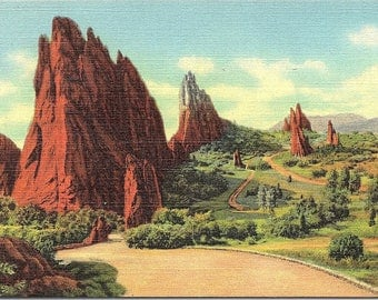 Garden of the Gods, Pikes Peak, Colorado - Vintage Postcard - Postcard - Unused (LL)