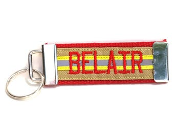 Firefighter Gift | Gear Label or Keychain | Like Bunker Gear | Firefighter Key Chain | Fire Key Fob | Last Name | Firefighter Gift