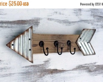 ON SALE Wall Hooks, Key Rack, Key Hooks, Key Organizer, Entryway Organizer, Key Rack Organizer, Wall Key Holder, Arrow Decor, Wooden Key Rac