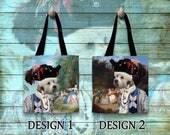 Dandie Dinmont Terrier Dog Tote Bag Art Custom Dog Terrier Portrait Personalized Dog Tote Bag Perfect DOG LOVER Gift for Her Gift for Him