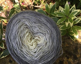 """100gms hand painted fingering weight gradient  cake  yarn. """" stormy skys """""""
