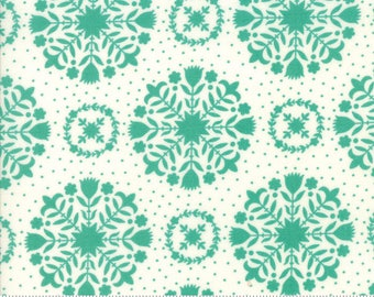 Handmade cotton fabric teal by Bonnie and Camille for Moda fabrics 55141 15