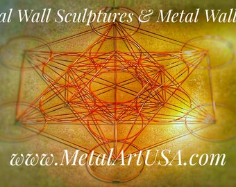 Geometric Metal Wall Sculpture / Metal Wall Art
