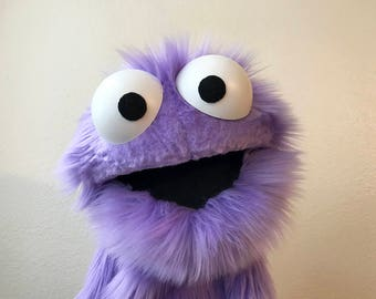 Professional Purple Furry Monster Puppet
