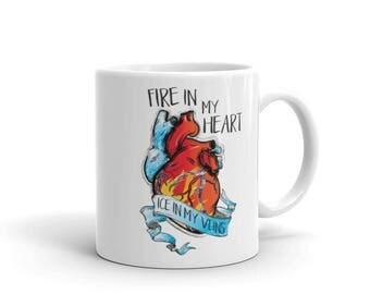 Fire & Ice Hockey Mug