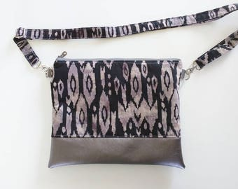 Hipster in black and gray ikat print with Mercury vinyl
