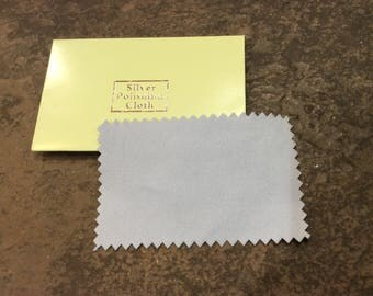Silver Polishing Cloth perfect for adjustable bangle bracelets to restore finish