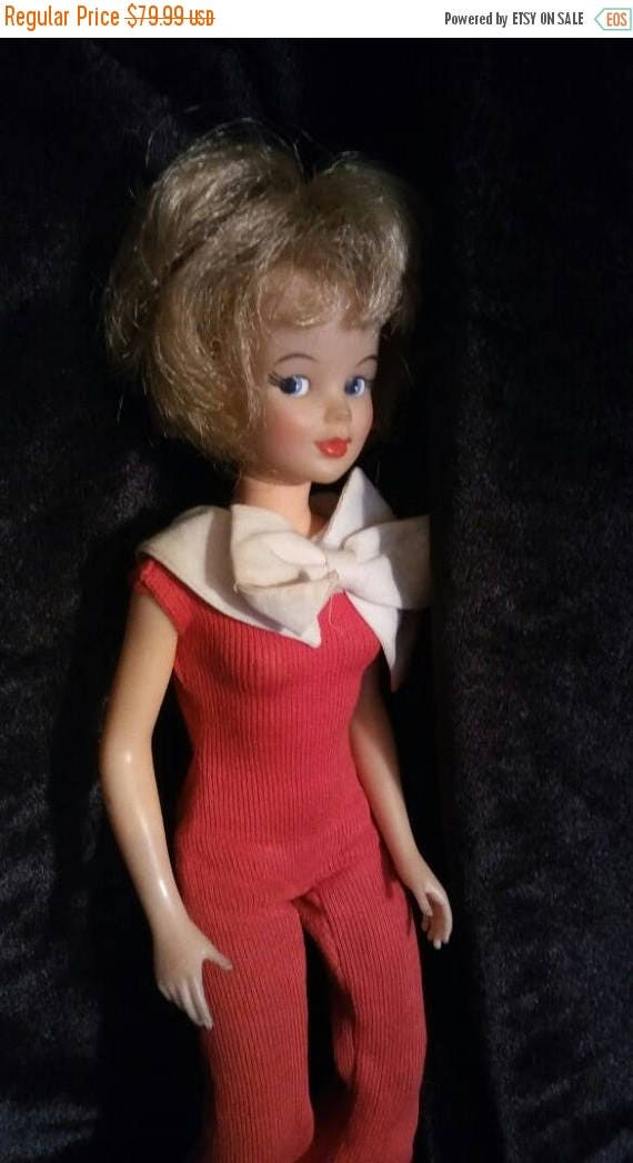 Now On Sale 1960's Tammy Doll - Super Cute Collectible - 1965 Red Dressed Childhood Doll - Sandy Blonde - Ideal Toy Corp - T - 12