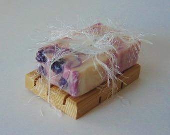 Handmade Wooden Soap Dish - Cedar, all natural
