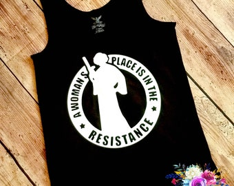 Star Wars Women's Resistance Princess Lei MomLife Mama Tank Top Mom Shirt