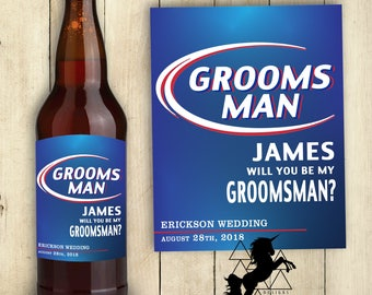 Best Man Label Groomsman Label Best Man Beer Label Beer Label PRINTABLE