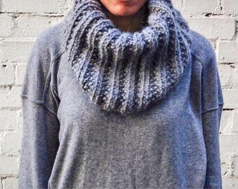 Chunky Grey cowl/ neckwarmer/ Colette