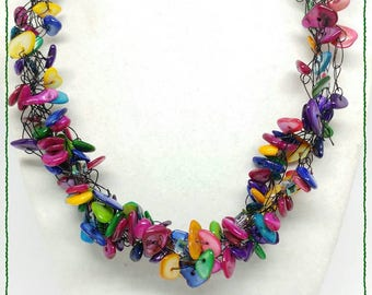 Ready to Ship Statement Unicorn Necklace Valentine gift jewelry chunky Rainbow necklace women gifts for coworker