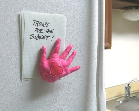 In the Pink HAND-Maggie ~ Refrigerator Magnet ~ Ready to Ship