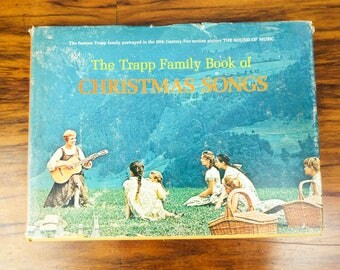 Original 1950 The Trapp Family Book of Christmas Songs by Franz Wasner and The Trapp Family Singers, The Sound of Music Home Decor Theme
