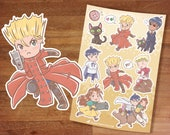 Stickers / Trigun Stickers / Vash the Stampede / Cute Anime / Sticker Set/ Manga / Trigun Maximum / Sticker Sheet / Wolfwood / Kuroneko