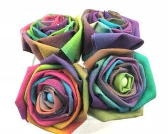 Rainbow Tye Dye Roses with Stems, Tye DyeRose Flower Bouquet, Rainbow Flowers, Tye Dye Roses, Rose Bouquet Gift, Gift for Her, Rainbow Roses