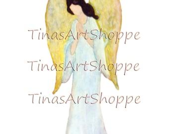 Angel clipart, Guardian Angel Art, Angel, Praying Angel Digital download,Watercolor Angel, Digital Angel Art, Praying Angel, Angel Art