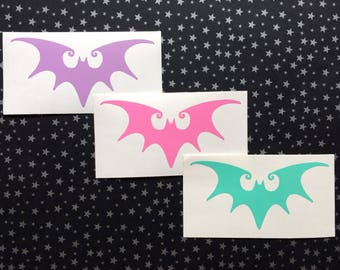 SpookyCute Bat vinyl decal -  Car decal, Laptop decal, Window decal, Gorey, Burton, Macabre, Gothic, Fairy Kei, Sugar, Candy, Cotton Candy