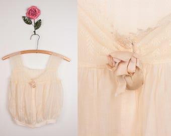vintage camisole / corset cover // victorian edwardian