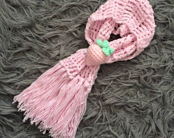 Short Strawberry Neckwarmer Scarf by MW