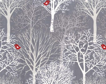 Woodland Winter on Grey from Michael Miller Fabric's Woodland Winter Collection
