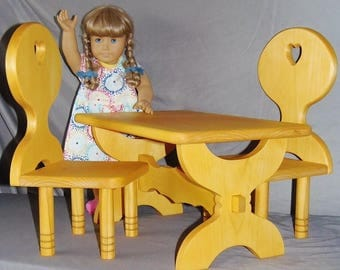 "American girl doll table and chair set or all 18"" dolls"