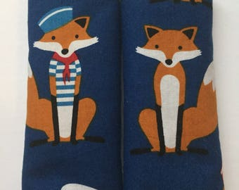 Fox -Car Seat Strap Covers/ Stroller Strap Covers/Reversible Strap Covers