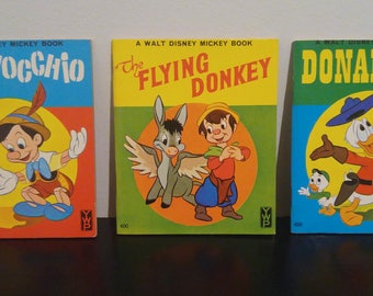 Vintage Walt Disney Mickey Books (3) - 1966