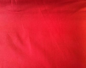Red cotton fbaric by the half metre