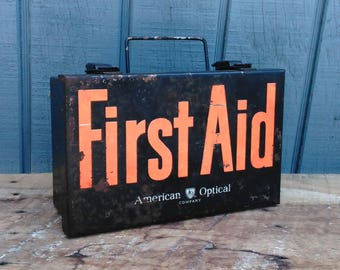 Vintage First Aid Kit - American Optical First Aid