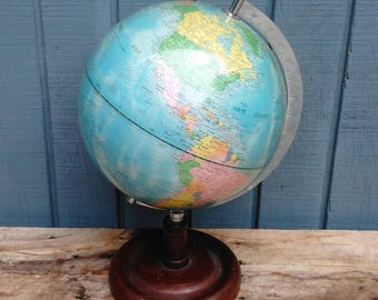 Vintage Globe - World Globe - Office Decor
