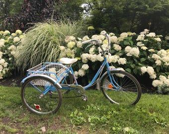 Vintage Sears adult Tricycle / 3 wheels bike /trike