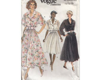 Womens Feminine Blouse, Camisole and Full Skirt Vintage 1990 Vogue Sewing Pattern 7751 Full Figure Sizes 12-14-16 Bust 34 -36- 38