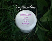 2 oz All Natural Vapo Rub - Stuffy Nose Relief - Menthol Vapo Rub - Herbal Remedies - Elusive Wolf