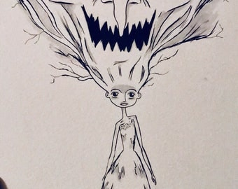 Aggie (inspired by ParaNorman) - Inktober 2017