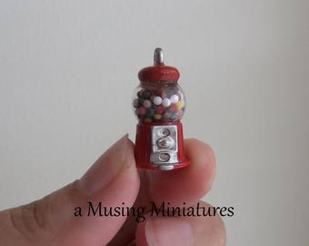 Countertop Gumball Machine in 1:12 Scale for Dollhouse Miniature Grocery of Drugstore