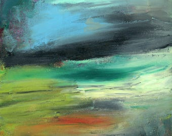 Original abstract Painting, landscape painting, Abstract Landscape, contemporary art, Fine Art, Modern Art