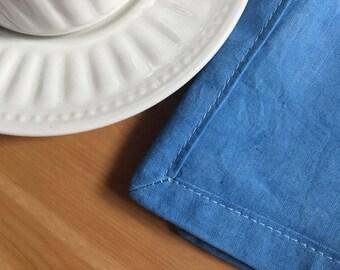 Indigo dyed napkins, linen, natural dye, ecofriendly, set of 4
