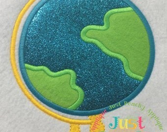 Globe Machine Embroidery Applique Design Buy 2 for 4! Use Coupon Code 50OFF
