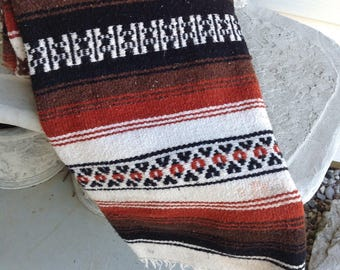 Vintage Mexican Blanket / Tribal Throw